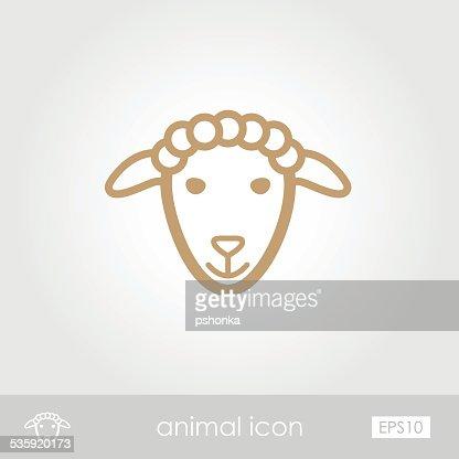 Sheep icon : Vector Art