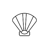 shell icon. Signs and symbols can be used for web, logo, mobile app, UI, UX on white background