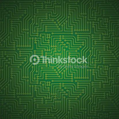 Shining Printed Circuit Board Vector Art | Thinkstock