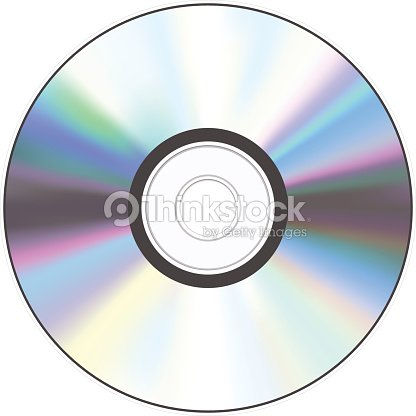 a shiny silver cd with a hole in the middle vector art thinkstock