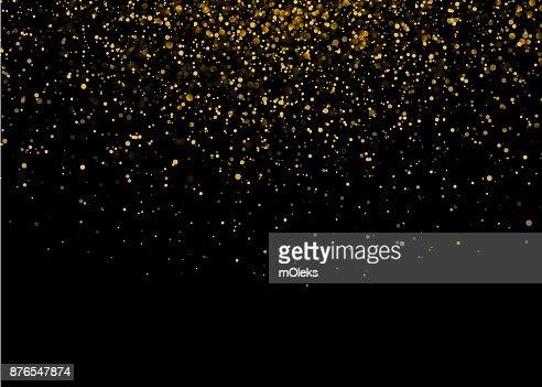 Shiny Star Burst Light with Gold Luxury Sparkles. Magic Golden Light Effect. Vector Illustration on Black Background : stock vector