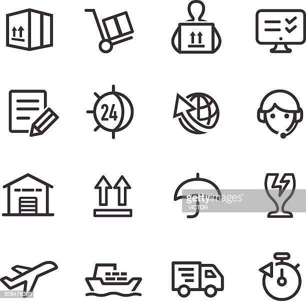 Shipping and Logistics Icons - Line Series