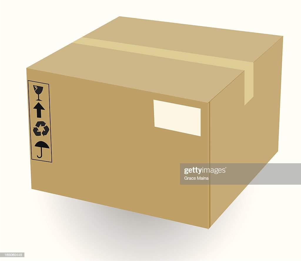 Shipping Box Vectorv Vector Art   Getty Images