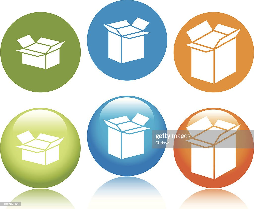 Shipping Boxes Icons Vector Art   Getty Images
