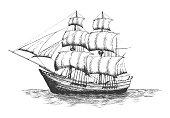 Shipping company logo. Vector eps10 isolated illustration.