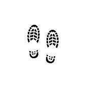 Shoe Print, Footprint, Track - Imprint, Running, Hiking