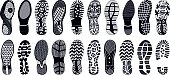 Collection of highly detailed footprints: