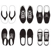 shoe vector set.