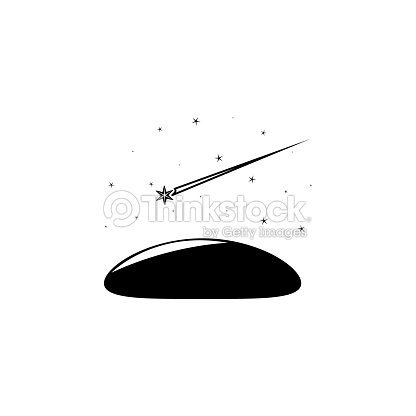 shooting star in the sky icon element of stars icon premium quality