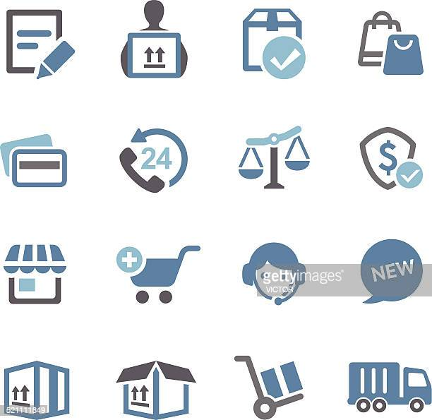 Shopping and Shipping Icons - Conc Series