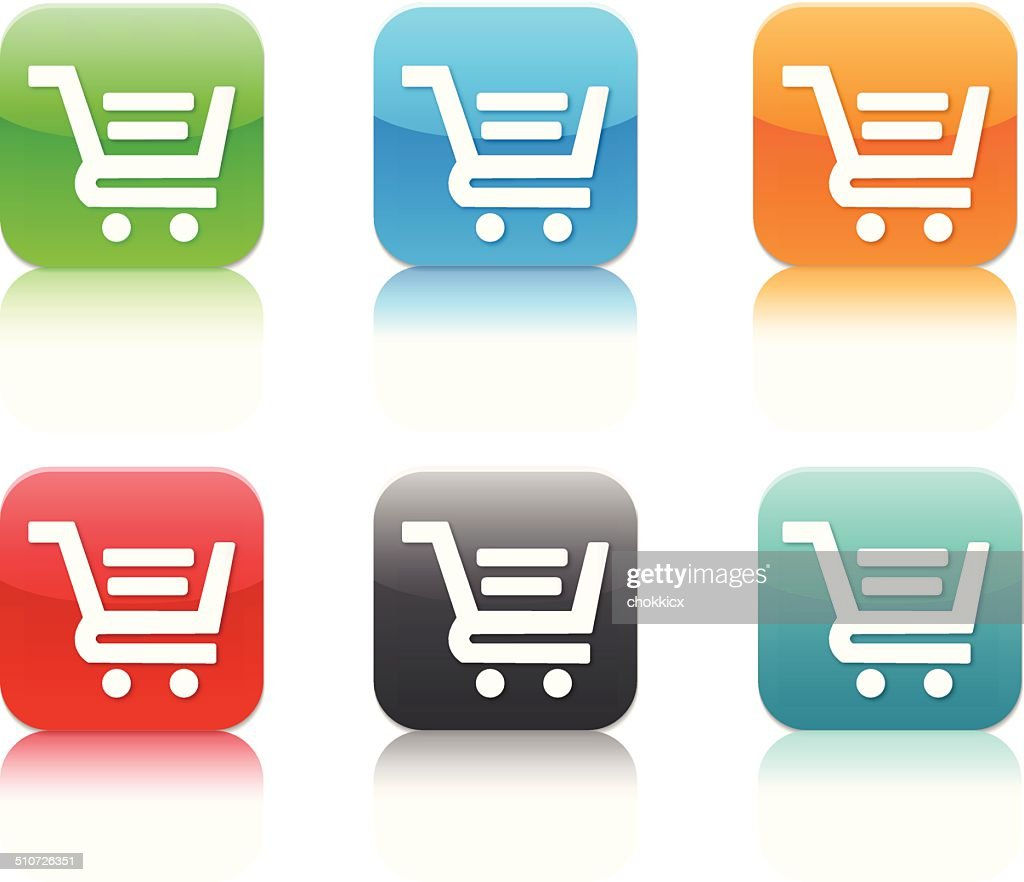 Shopping App Icons Vector Art Getty Images