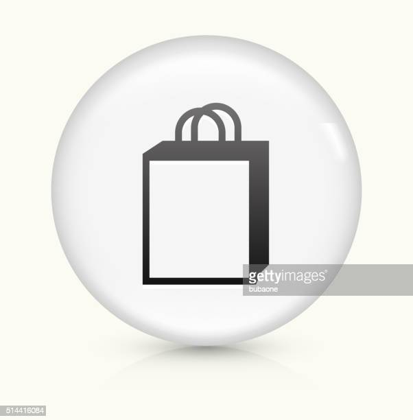 Shopping Bag icon on white round vector button