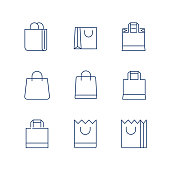 Shopping Bag Line Icon Vector / shopping bag icon / shopping bag - Vector icon. Editable stroke. eps 10