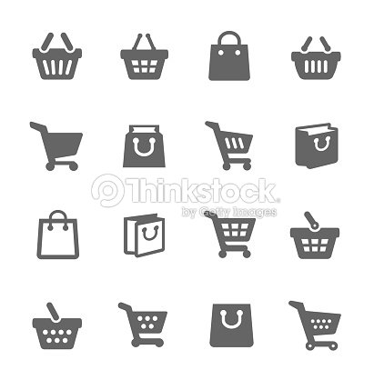 Shopping Bags and Carts : stock vector