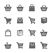Simple Set of Shopping Bags Related Vector Icons for Your Design. Vector EPS 10 Format. Well Organized and Layered.