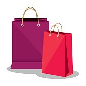 shopping bags market isolated icon vector illustration design