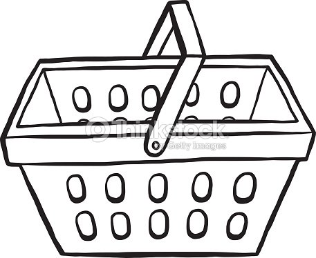 Empty Laundry Basket Clipart Shopping Basket Vector...