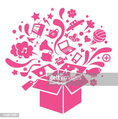 shopping box : Vector Art