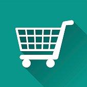 illustration of shopping flat design icon isolated