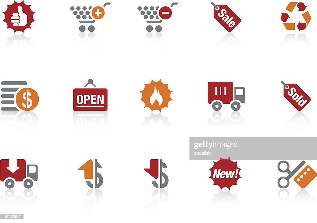 shopping icons   Alto series : Arte vetorial