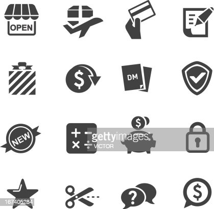Shopping Icons Set 2-Acme Series : Vector Art