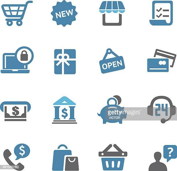 Shopping icônes Set-Série de conciergerie