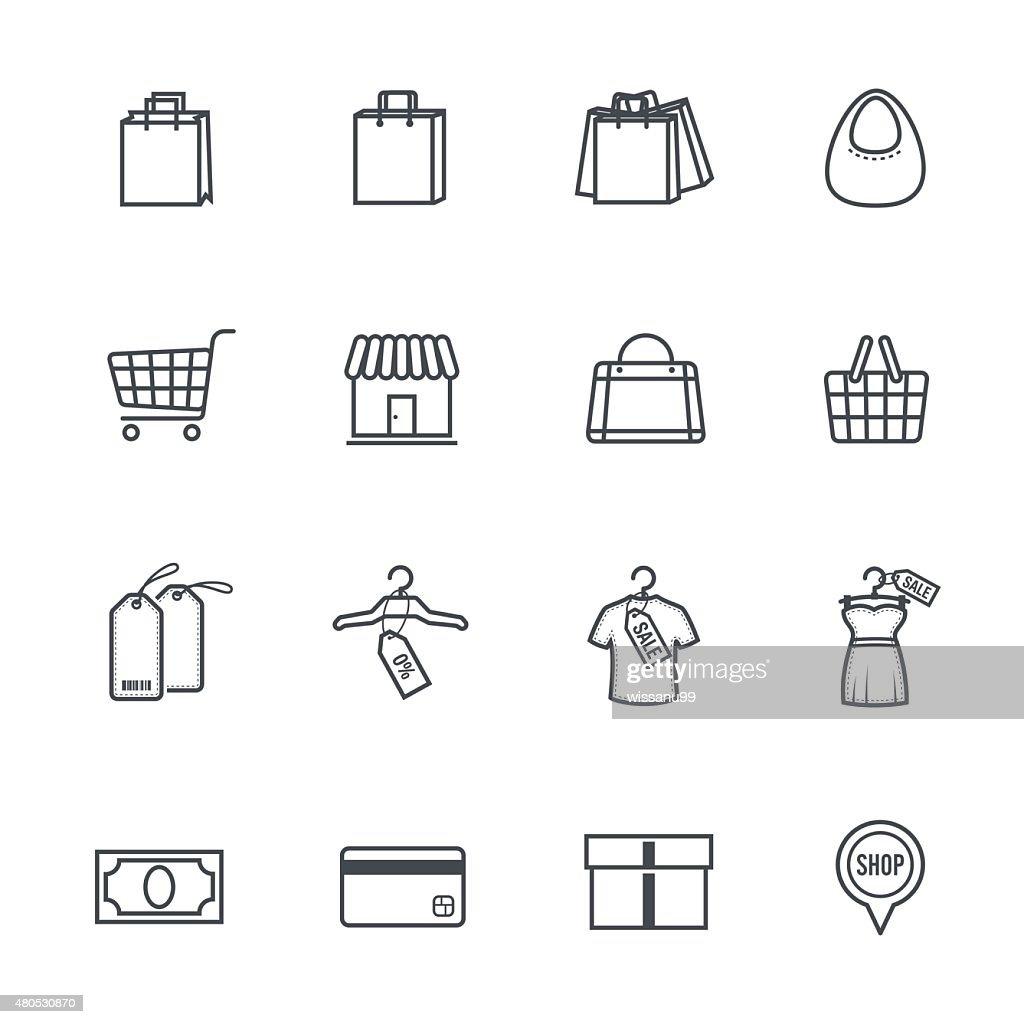 Icone dello Shopping : Arte vettoriale