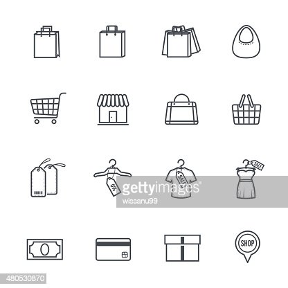 Shopping  Icons : Vector Art