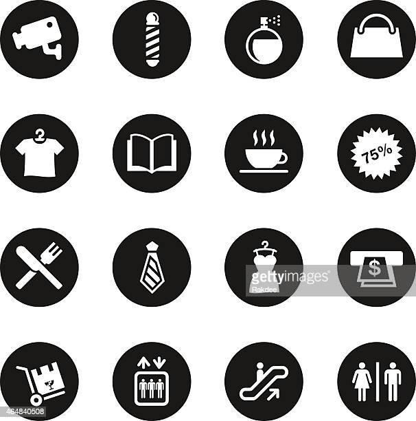 Shopping Mall Icons - Black Circle Series