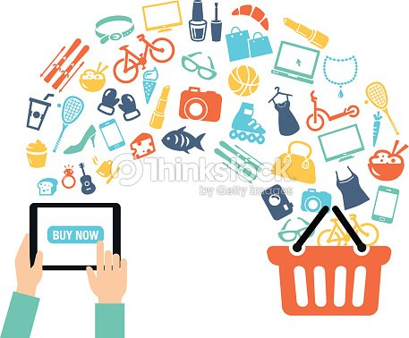 Shopping online background vector art thinkstock for Good sites for online shopping