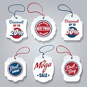 Shopping pricing tags isolated on white. Vector best price and sale badges, discount and offer stickers, promo or good choice labels