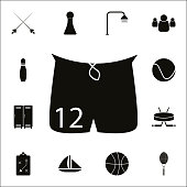 Shorts icon. Detailed set of Sport icons. Premium quality graphic design sign. One of the collection icons for websites, web design, mobile app on white background