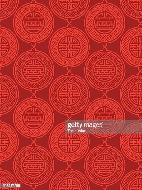 Shou und cai/Vielfalt 2 (Seamless pattern), orientalischen