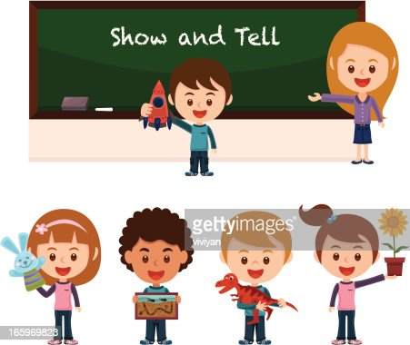 show and tell with school children vector art getty images School Bus Clip Art Schoolhouse Clip Art