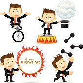 Vector illustration - Showtime