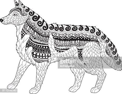 Husky Siberiano Com Elevada Detalhes Arte Vetorial