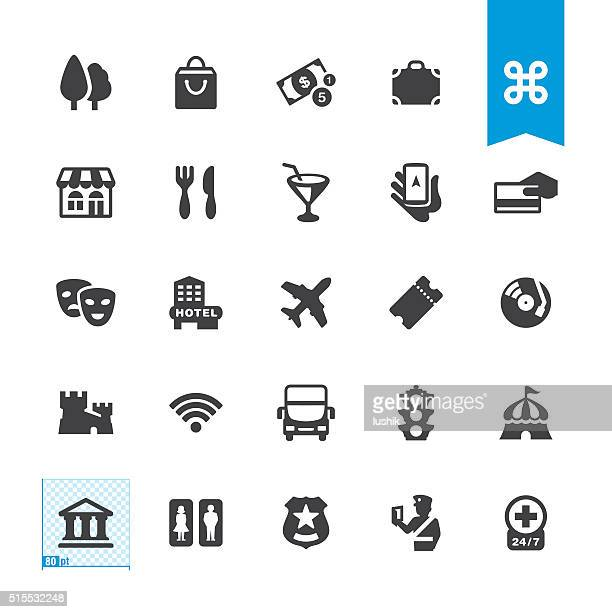 Sightseeing & City Guide vector sign and icon