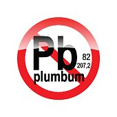 sign absence of harmful substances - plumbum in the red circle