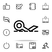 sign cut icon. web icons universal set for web and mobile on white background