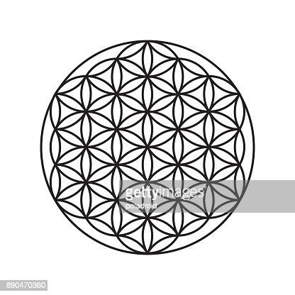 Sign of a flower of life, a pattern of circles : Arte vetorial