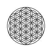Logo of a flower of life, a pattern of circles