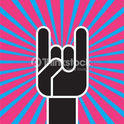 Sign Of The Horns Hand Gesture Vector Art Thinkstock