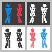 Image of: Men S Bathroom Sign Vector On Wc Sign Vector Funny Boy And Girl Toilet Icons Or Female Male Bathroom Symbols Toilet Sign Stock Photos Illustrations Royaltyfree Images