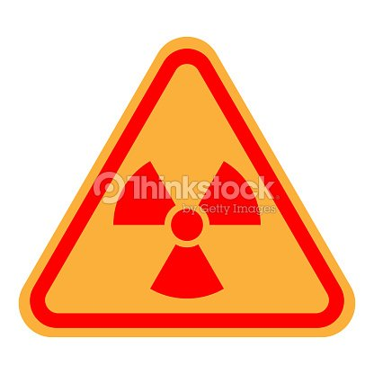 Nuclear Pollution Sign Yellow And Red Ionizing Radiation Symbol In
