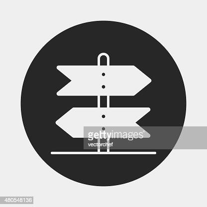 signpost icon : Vector Art