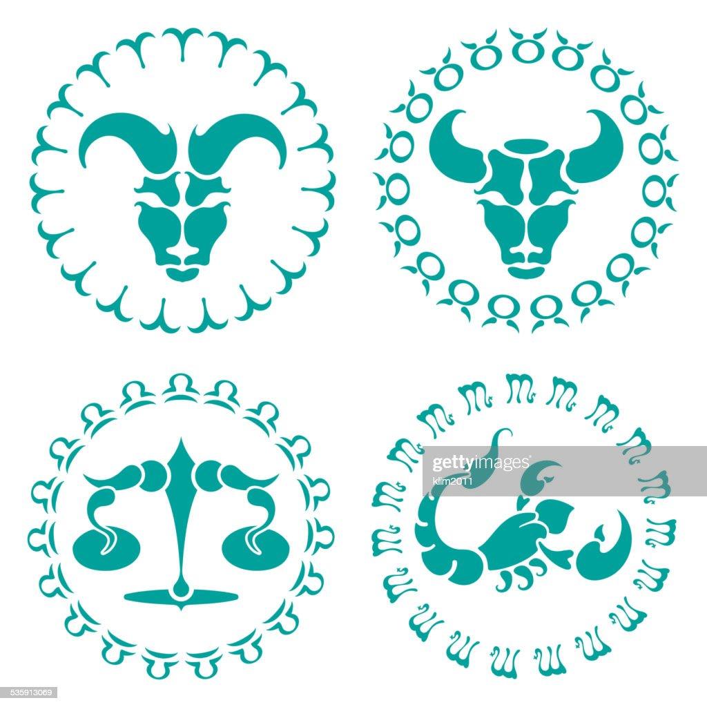 Señales del zodíaco : Arte vectorial