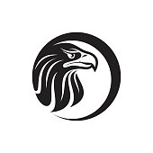 Silhouette design of head Eagle for your business symbol. Vector graphics to design. Vector illustration EPS.10