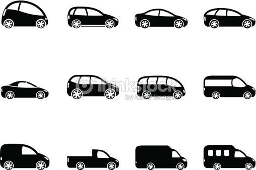 silueta de diferentes tipos de iconos de veh culos arte vectorial thinkstock. Black Bedroom Furniture Sets. Home Design Ideas