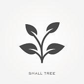 Silhouette icon small tree