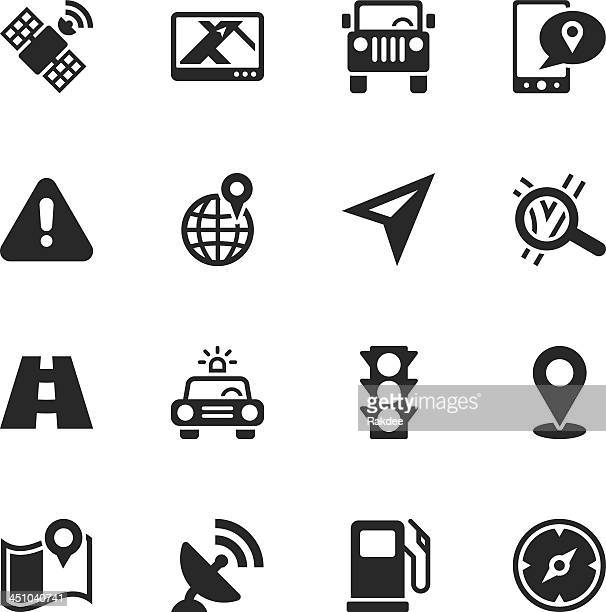 GPS Silhouette Icons